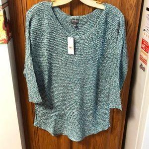 Soho New York & company aqua shimmer sweater